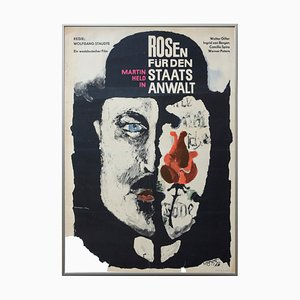 Vintage Movie Poster for the Roses Staatsanwalr, 1966