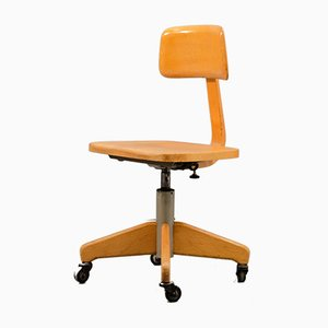 German Wooden Desk Chair from Federdreh, 1960s