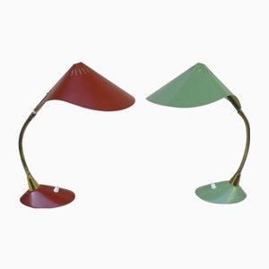 Cobra Schreibtischlampen von Cosack, 1950er, 2er Set