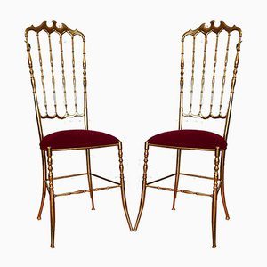 Italian High Chairs by Chiavari, 1960s, Set of 2