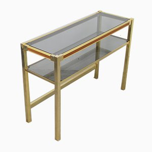 Willy Rizzo Style Console Table, 1970s