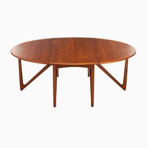 Danish Teak Gateleg Dining Table by Kurt Østervig for Jason Møbler, 1950s