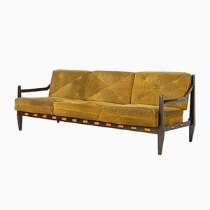 Rosewood Palisdander Sofa by Jean Gillon, 1960s