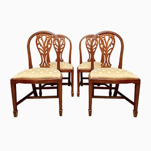 Vintage Antique Style Dining Chairs, Set of 4
