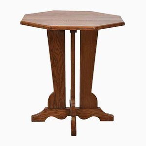 Arts & Crafts Oak Occasional Side Table from Hypnos Cabinets, 1920s