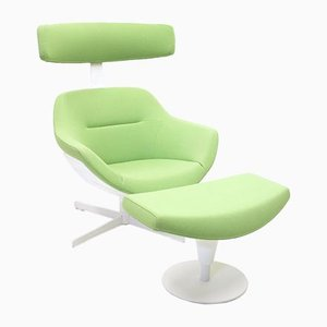 Auckland Lounge Chair & Ottoman by Jean-Marie Massaud for Cassina, 2000s, Set of 2