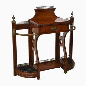 Aesthetic Movement Walnut & Brass Console Table from James Shoolbred, 1883
