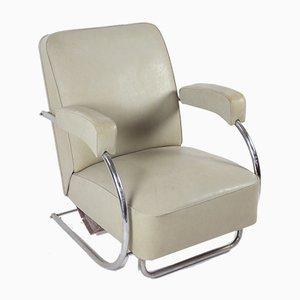 Bauhaus Tubular Steel Lounge Chair, 1930s
