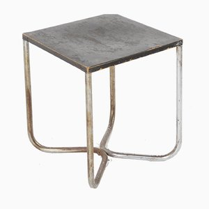 Bauhaus Tubular Steel Stool, 1930s