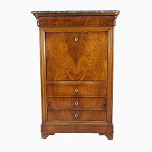 Antique Louis Philippe Secretaire with Marble Top, Circa 1850