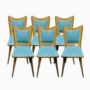 Esszimmerstühle von Carlo Ratti für Pizzetti, 1950er, 6er Set