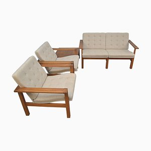 Mid-Century Modern Teak Living Room Set by Ole Gjerløv-Knudsen & Torben Lind for France & Søn / France & Daverkosen, Set of 4