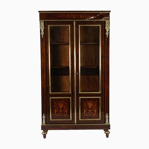 Antique French Classical Rosewood Display Cabinet, Circa 1900