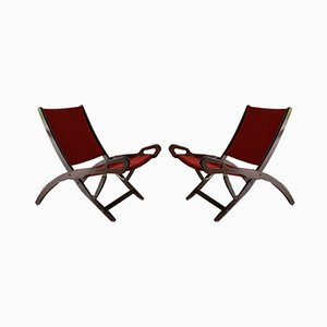 Ninfea Folding Lounge Chairs by Gio Ponti for Fratelli Reguitti, 1958, Set of 2