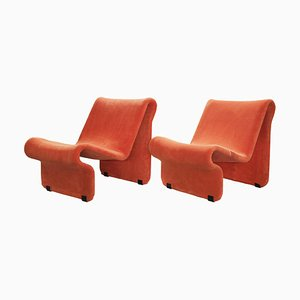Vintage Sculptural 099 Armchairs by Jan Dranger & Johan Huldt for AB Effkå Möbler, Set of 2