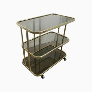 Italian Food Trolley with Glasses, 1970s