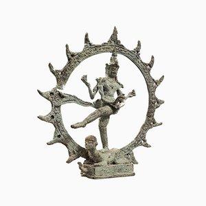 Antique Indian Chola Bronze Shiva Nataraja Figure, 17th Century