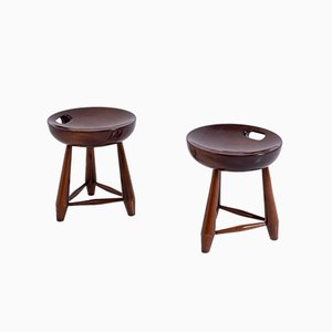 Mid-Century Model Mocho Stools by Sergio Rodrigues, 1950s, Set of 2