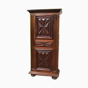 Antique Louis XIII Style Wardrobe with Diamond-Shaped Front Panels, Early 20th Century