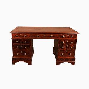 Antique English Mahogany Pedestal Desk, 1800s