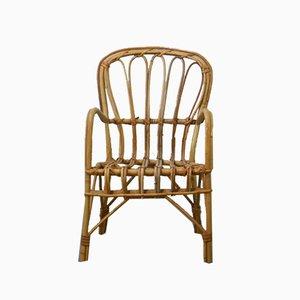 Italian Rattan Children's Chair, 1970s