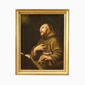 Antike Malerei des Heiligen Franz von Assisi, 18. Jahrhundert