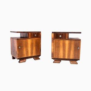 Tables de Chevet Art Déco, Pologne, 1950s, Set de 4
