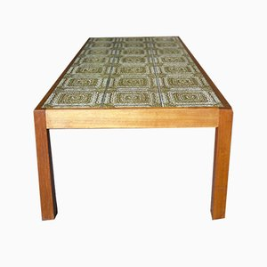 Large Vintage Retro Ceramic Tiled Coffee Table, 1960s