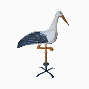 Antique French Stork Weathervane, Early 1900s
