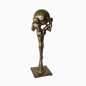Large Art Deco Silvered Bronze Statue, Belgium, 1920s