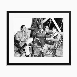 Errol Flynn, George Tobias & Henry Hull Archival Pigment Print Framed in Black by Everett Collection