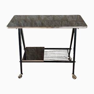 Vintage Formica & Metal Side Table, 1960s