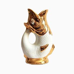 Vintage Ceramic Pesce Fish Vase by Avobin, Italy, 1970s