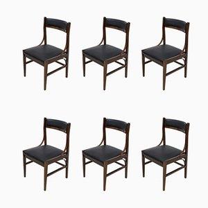 Italienische Esszimmerstühle aus Mahagoni von Ico Parisi für Cassina, 1960er, 6er Set