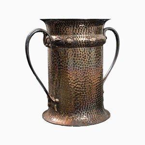 Antique English Art Nouveau Silver-Plated Tankard or Vase, Circa 1900
