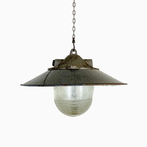 Industrial Factory Pendant Lamp, 1950s