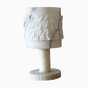 Brutalist Alabaster Table Lamp, 1970s