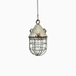 Industrial Explosion-Proof Cage Bunker Lamp from EOW, 1960s