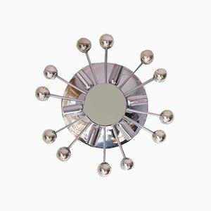 Mid-Century Chrome & Glass Sputnik Wall Lamp from Baum Leuchten