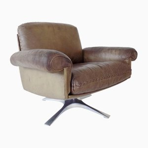 Brown Leather DS 31 Lounge Chair from de Sede, 1960s
