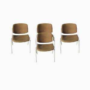 Italienische Esszimmerstühle von Giancarlo Piretti für Castelli / Anonima Castelli, 1970er, 4er Set
