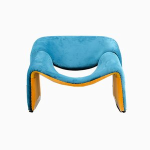 Vintage F598 Lounge Chair by Pierre Paulin for Artifort, 1970s