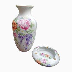 Mid-Century Vase & Aschenbecher aus Porzellan von Ancap, 2er Set