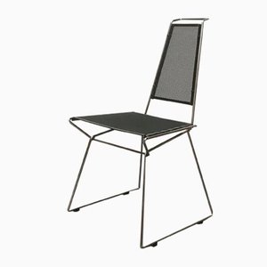 Postmoderner Vintage Metall Stuhl von Rolf Rahmlow, 1980er