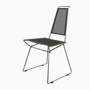 Vintage Postmodern Metal Side Chair by Rolf Rahmlow, 1980s