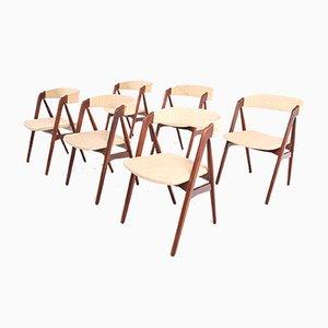 Teak Esszimmerstühle von Thomas Harlev für Farstrup Møbler, 1950er, 6er Set
