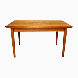 Swedish Teak Flip-Top Dining Table, 1960s