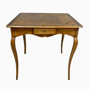 Louis XV Blond Walnut & Marquetry Game Table