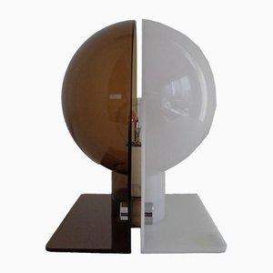 Brown & White Plastic Table Lamp by Harvey Guzzini, 1960s
