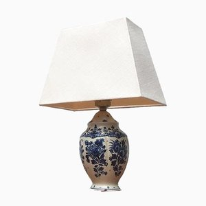 Vintage Dutch Delft Blue Table Lamp from Zenith, Gouda